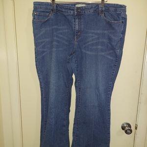 Levi's plus size 22 short bootcut 590 jeans